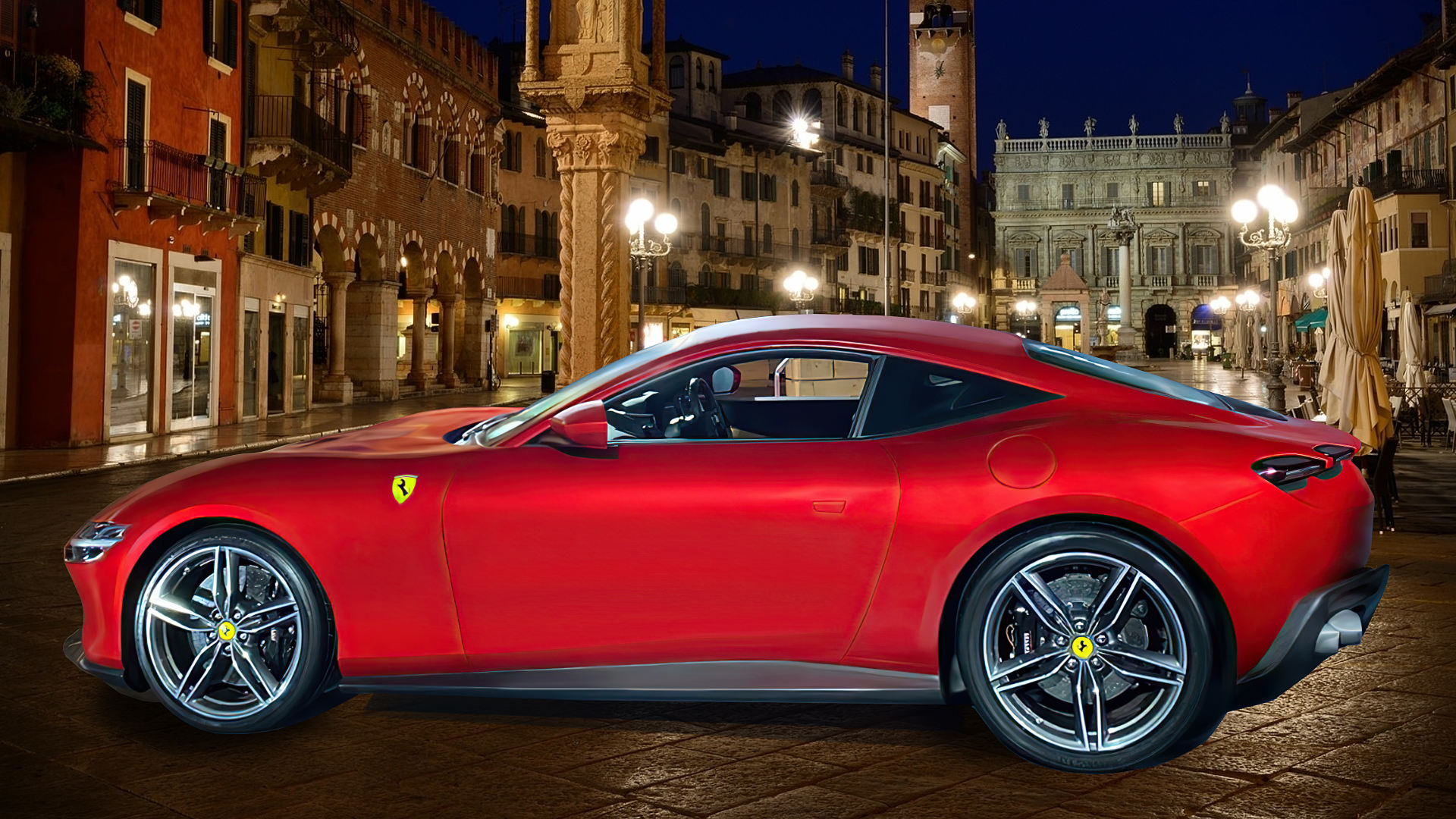 2020 Ferrari Roma Wallpaper Red
