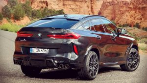 BMW X6 M Competition 2020 Back Wallpaper