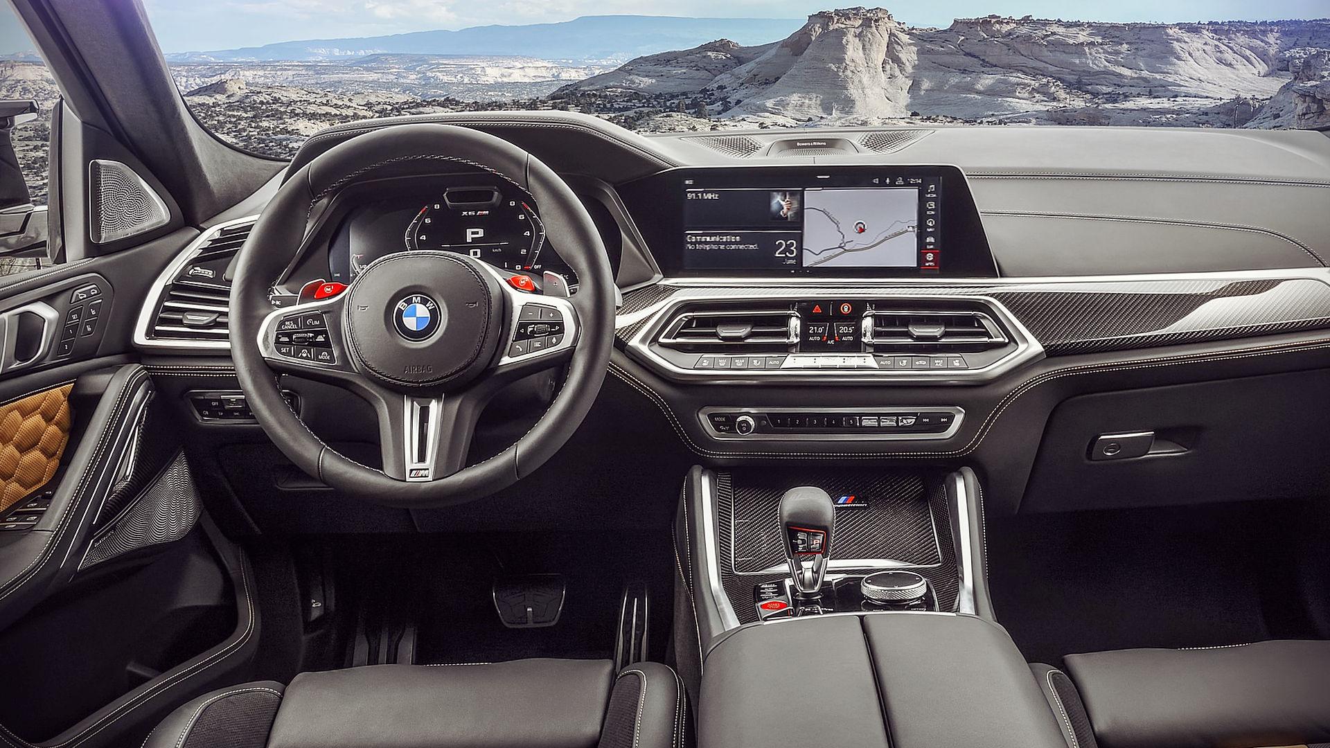 BMW X6 M Competition 2020 Interior Wallpaper