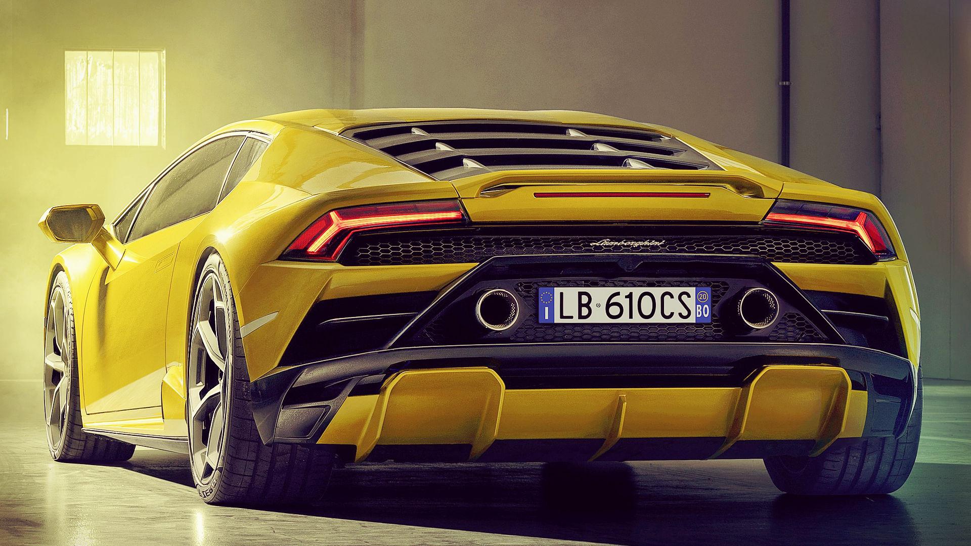 Lamborghini Huracan EVO RWD 2021 Back Wallpaper