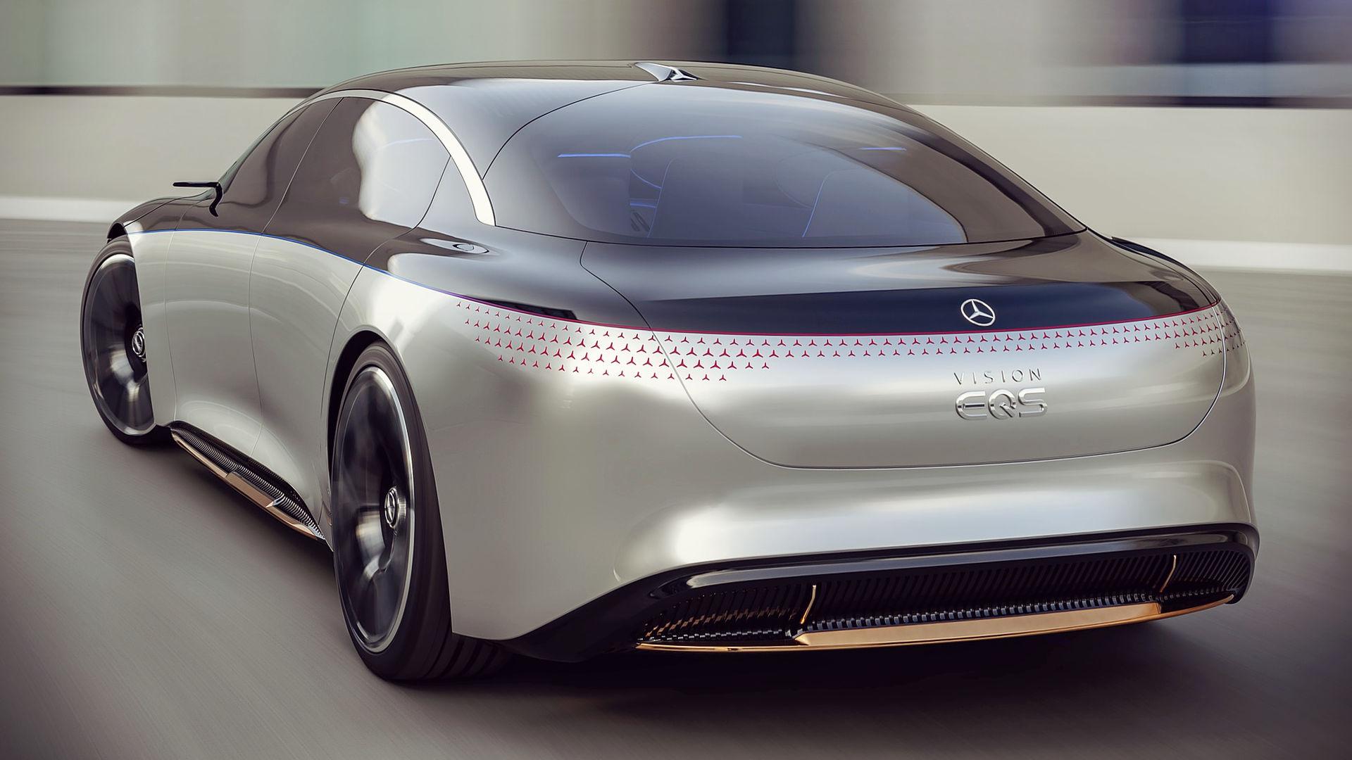 Mercedes Benz Vision EQS 2019 Back Wallpaper
