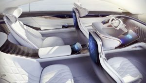 Mercedes Benz Vision EQS 2019 Interior Wallpaper