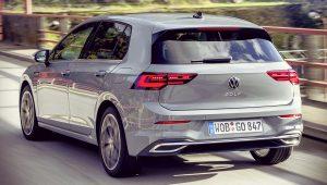 VW Golf 2020 Back Wallpaper