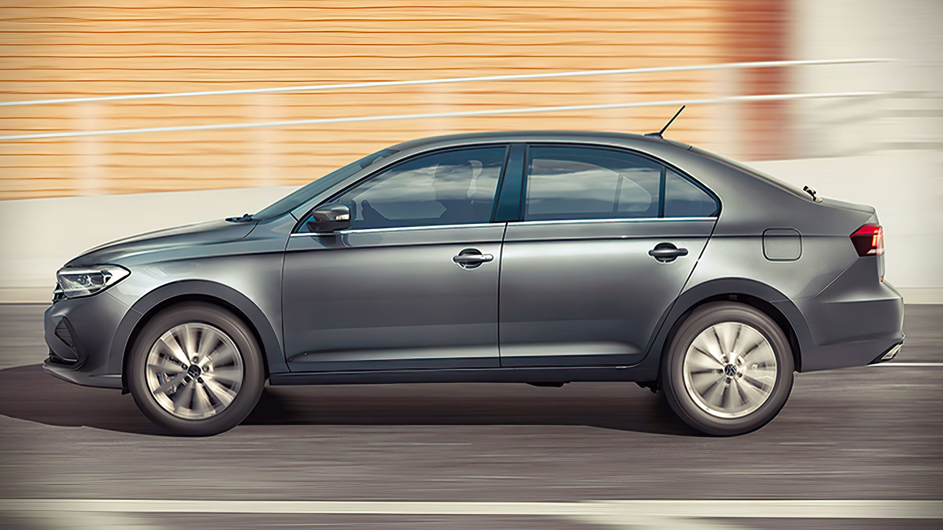 2020 Vw Polo Sedan Side Wallpaper