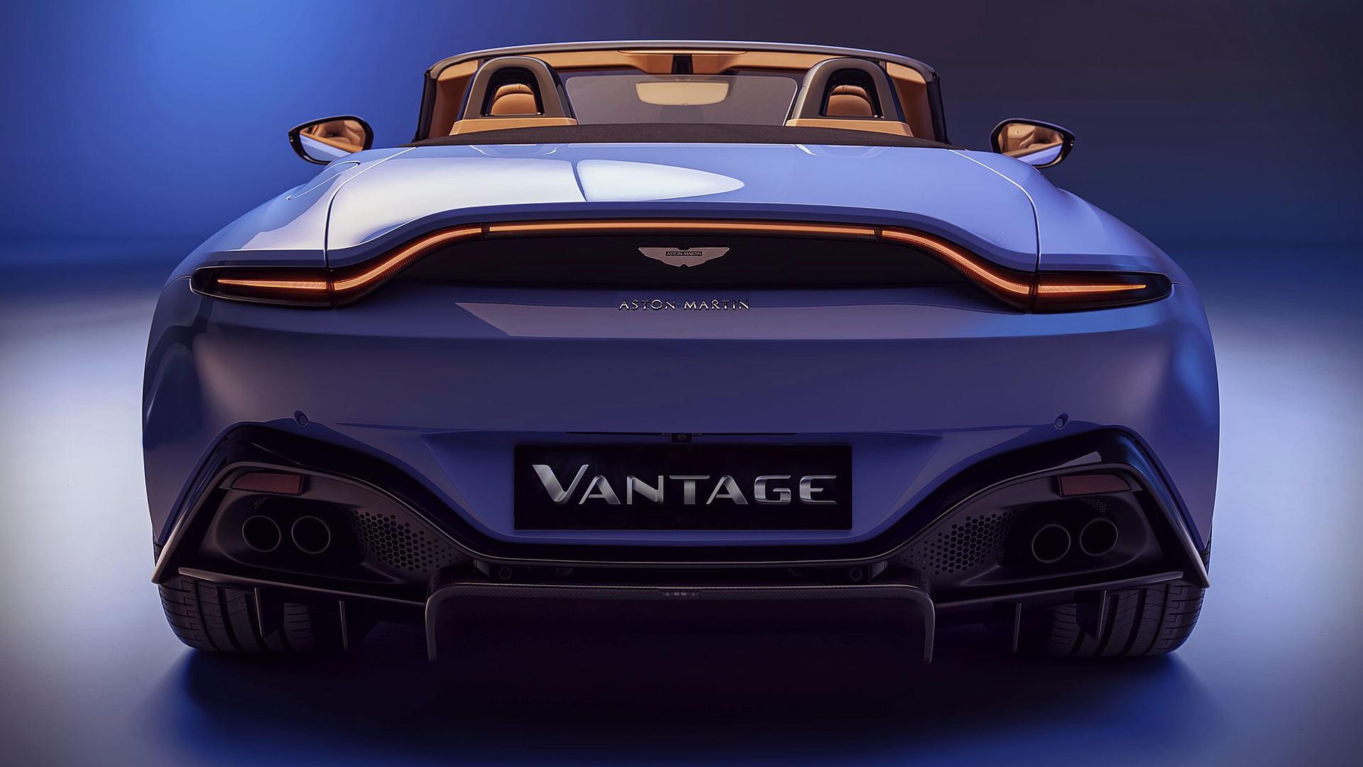 Aston Martin Vantage Roadster 2021 Back Wallpaper