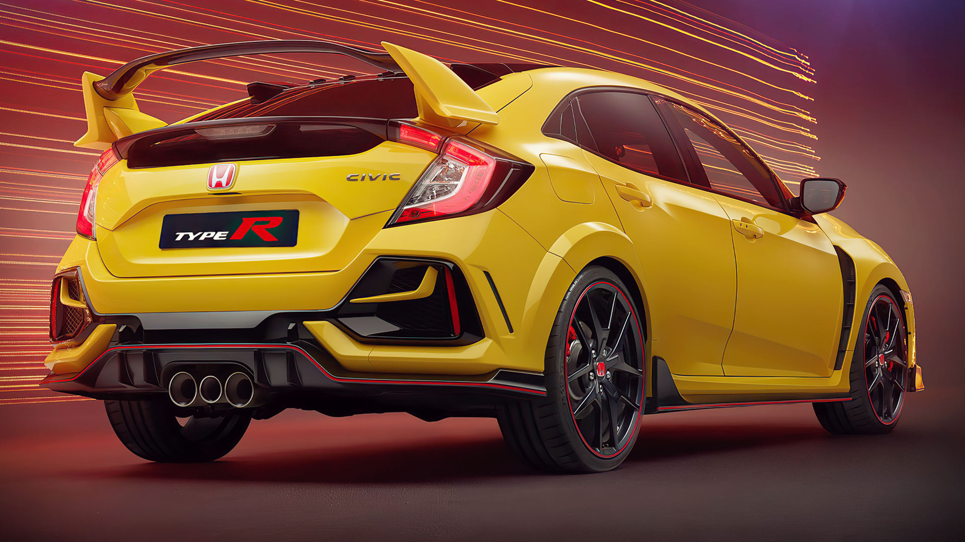 Honda Civic Type R Limited Edition 2021 Back Wallpaper