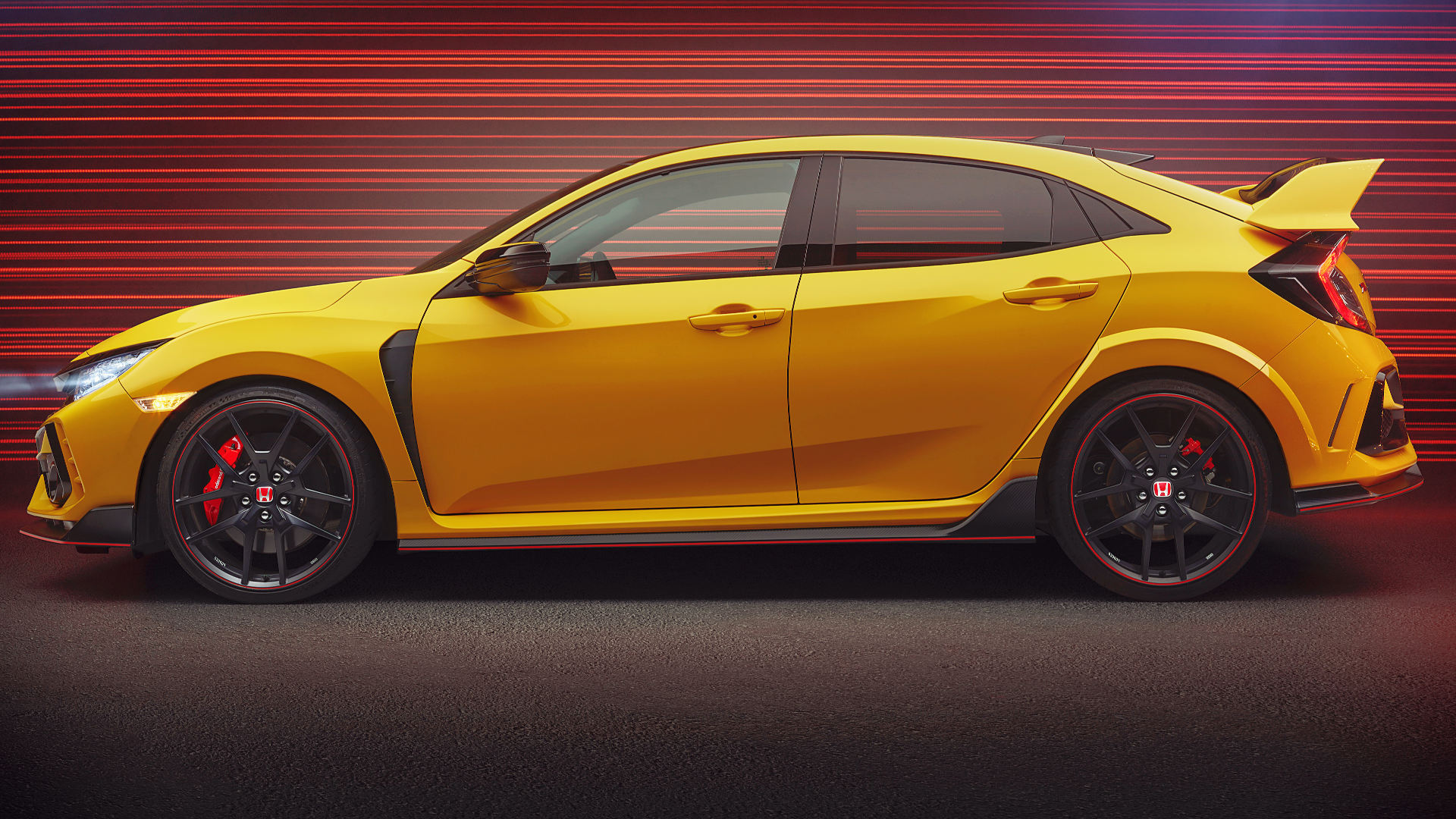 2021 Honda Civic Type R Limited Side Wallpaper