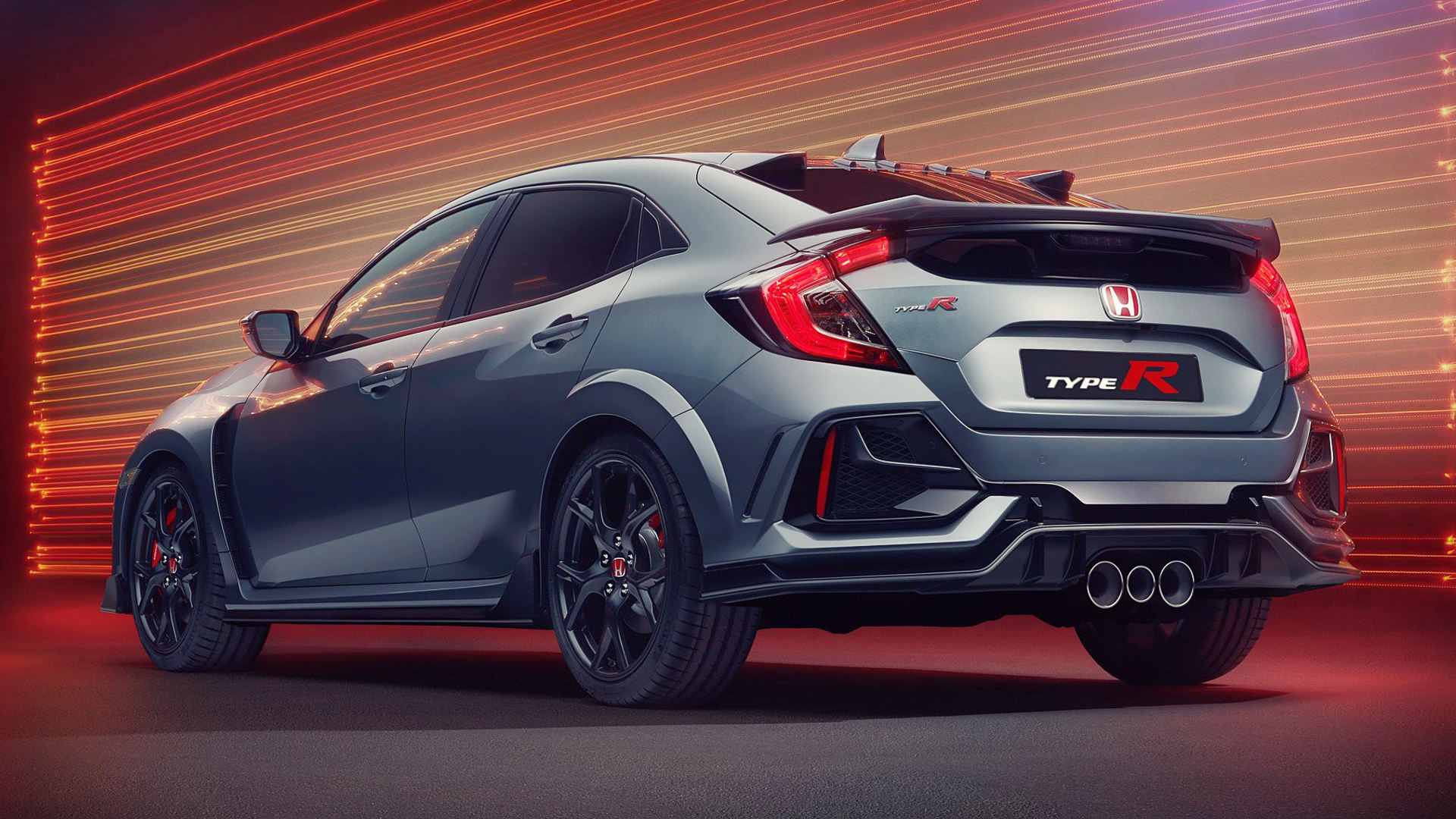 Honda Civic Type R Sport Line 2020 Back Wallpaper