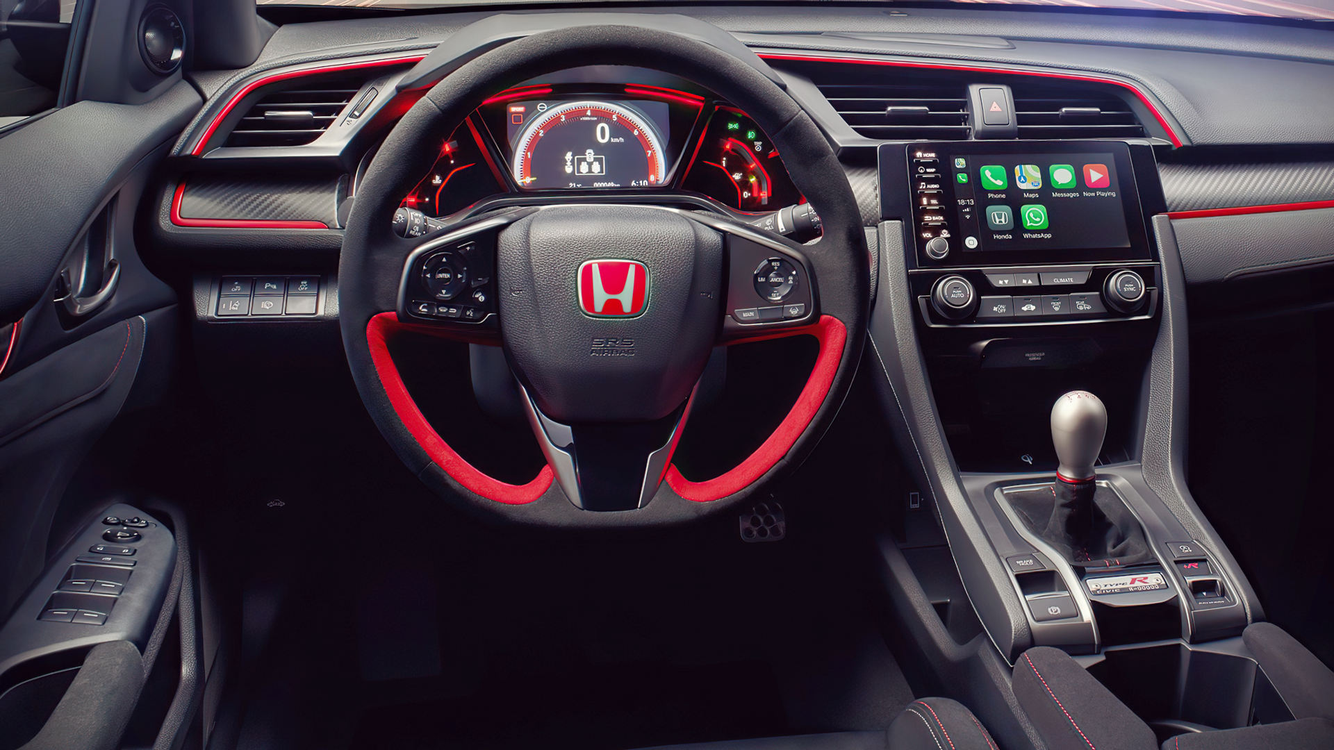 Honda Civic Type R Sport Line 2020 Interior Wallpaper