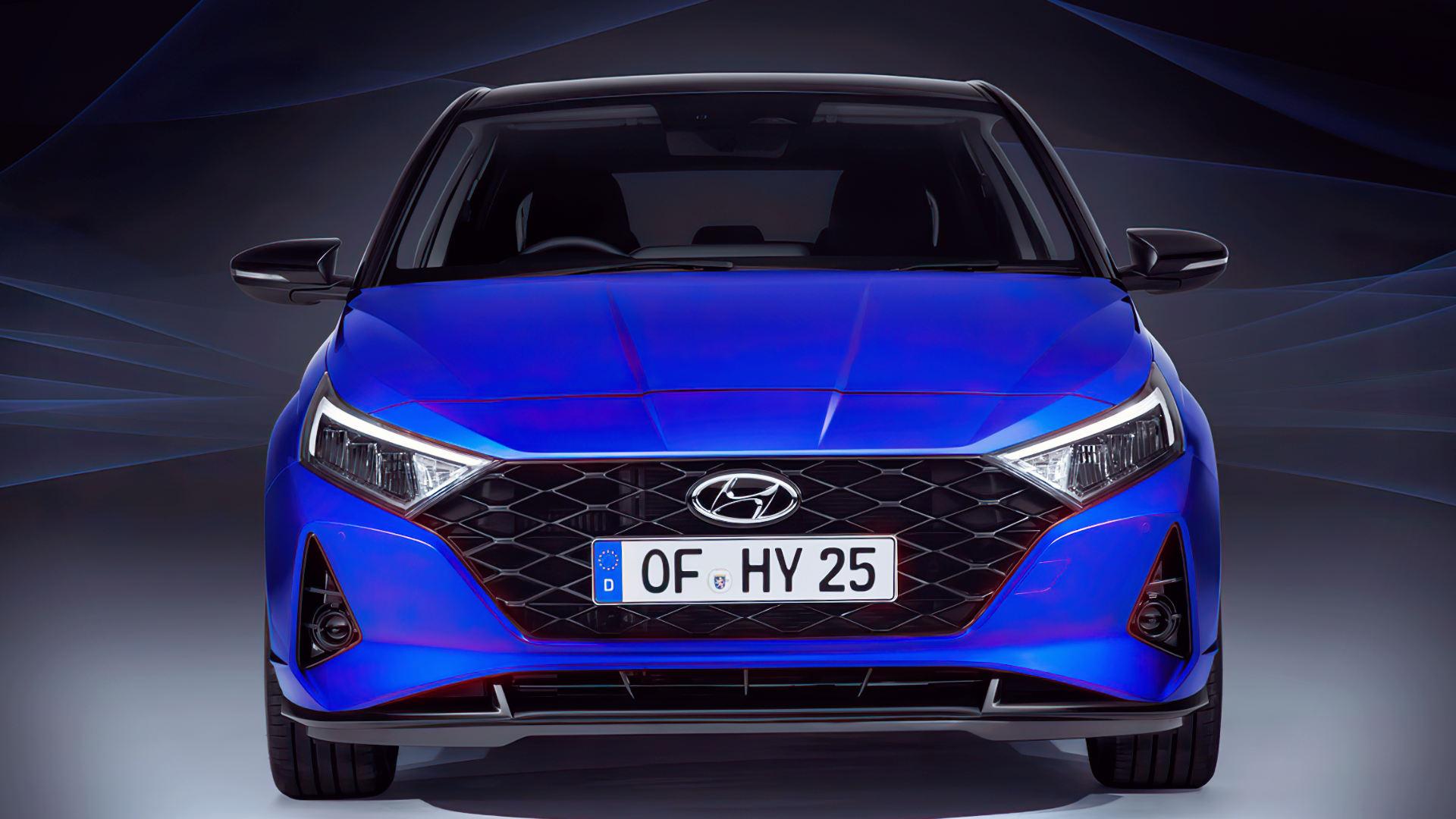 2021 Hyundai i20 Front Wallpaper