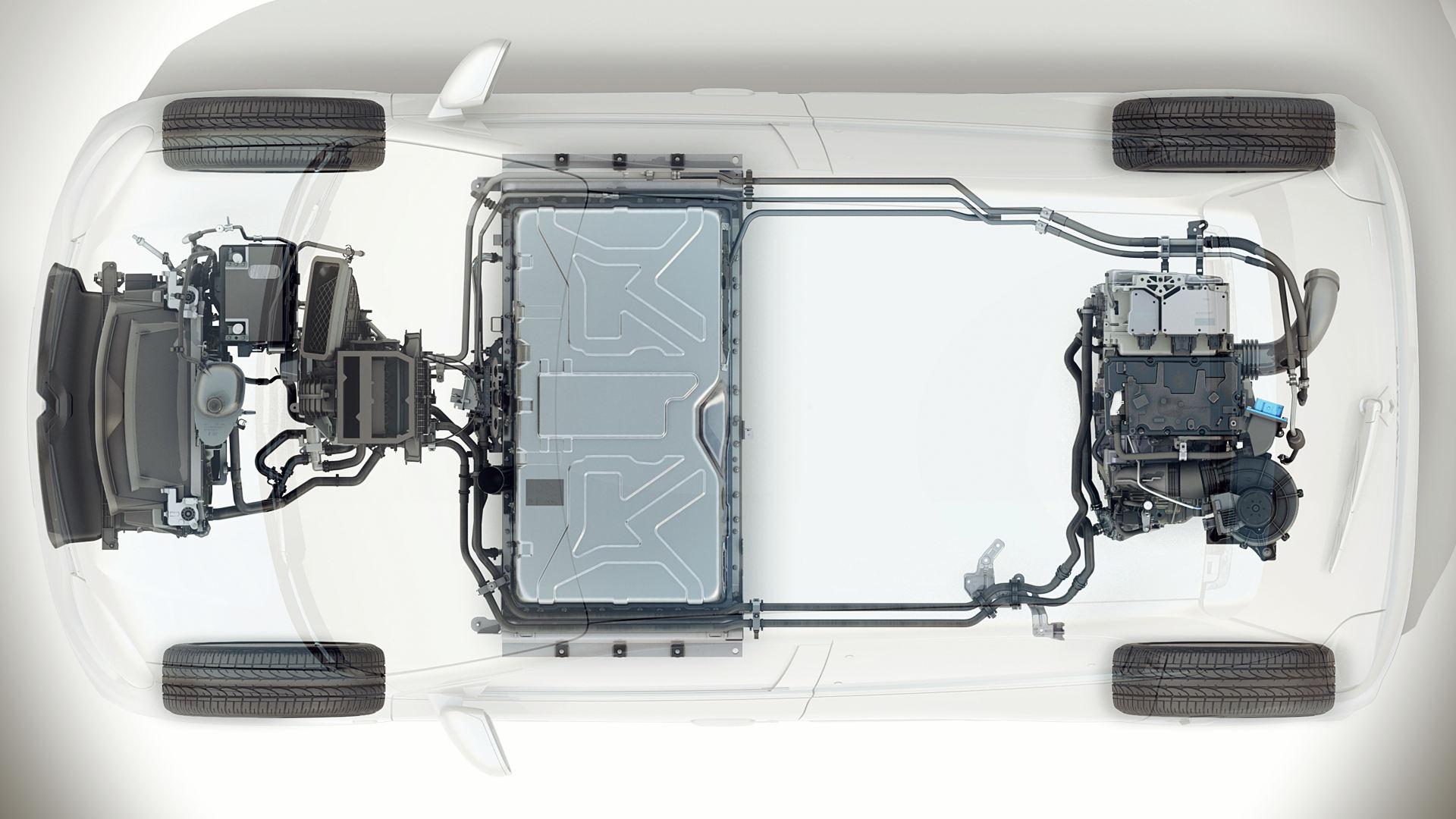 2020 Renault Twingo ZE Battery Layout
