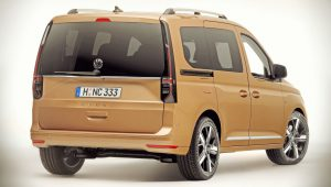 Volkswagen Caddy 2021 Back Wallpaper