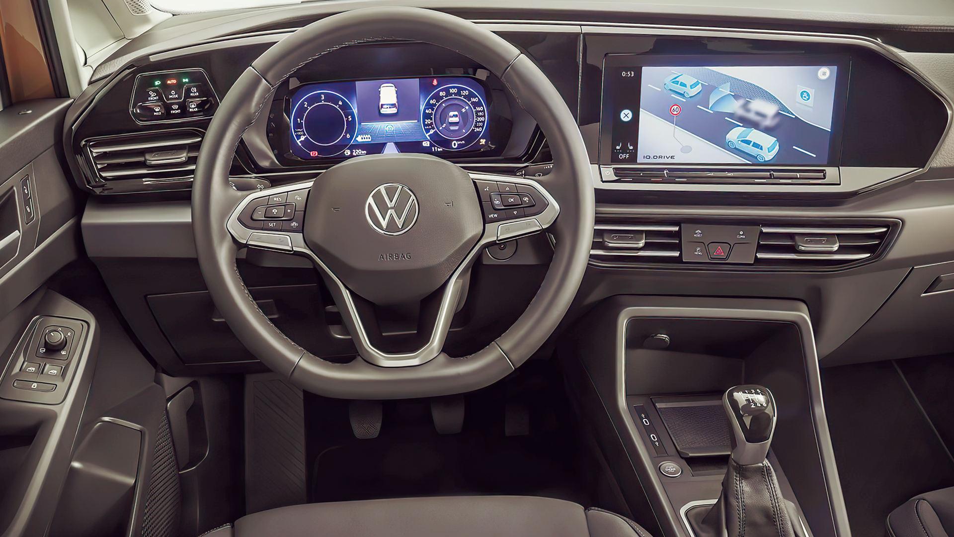volkswagen caddy 2021 interior wallpaper