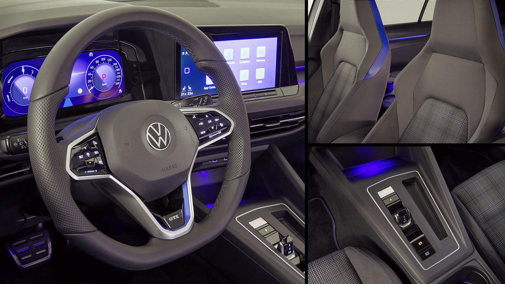2021 Volkswagen Golf GTE Hybrid Interior