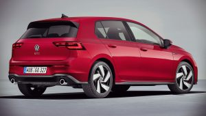 Volkswagen Golf GTI 2021 Back Wallpaper