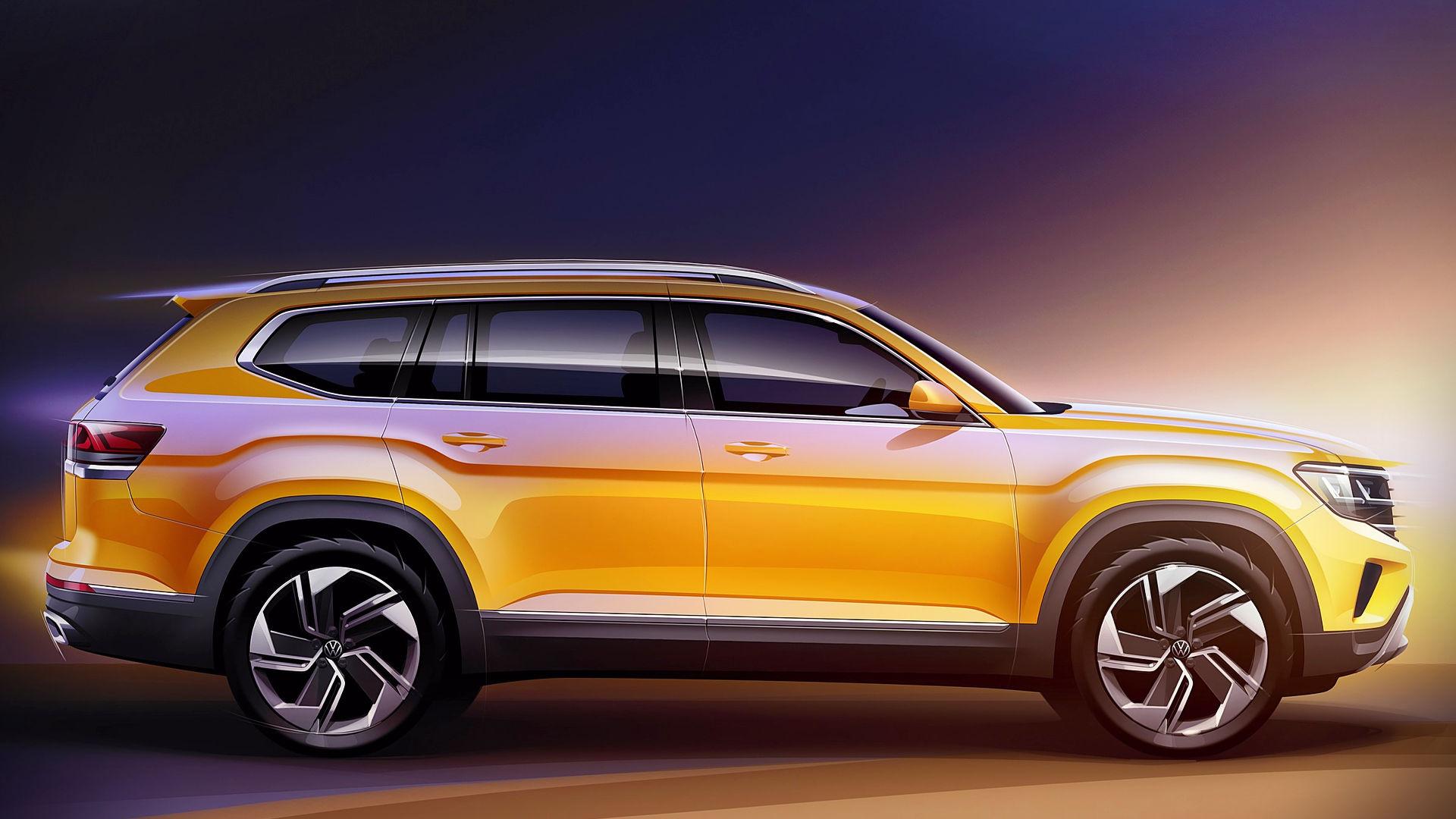 2021 VW Atlas Side Wallpaper Hd