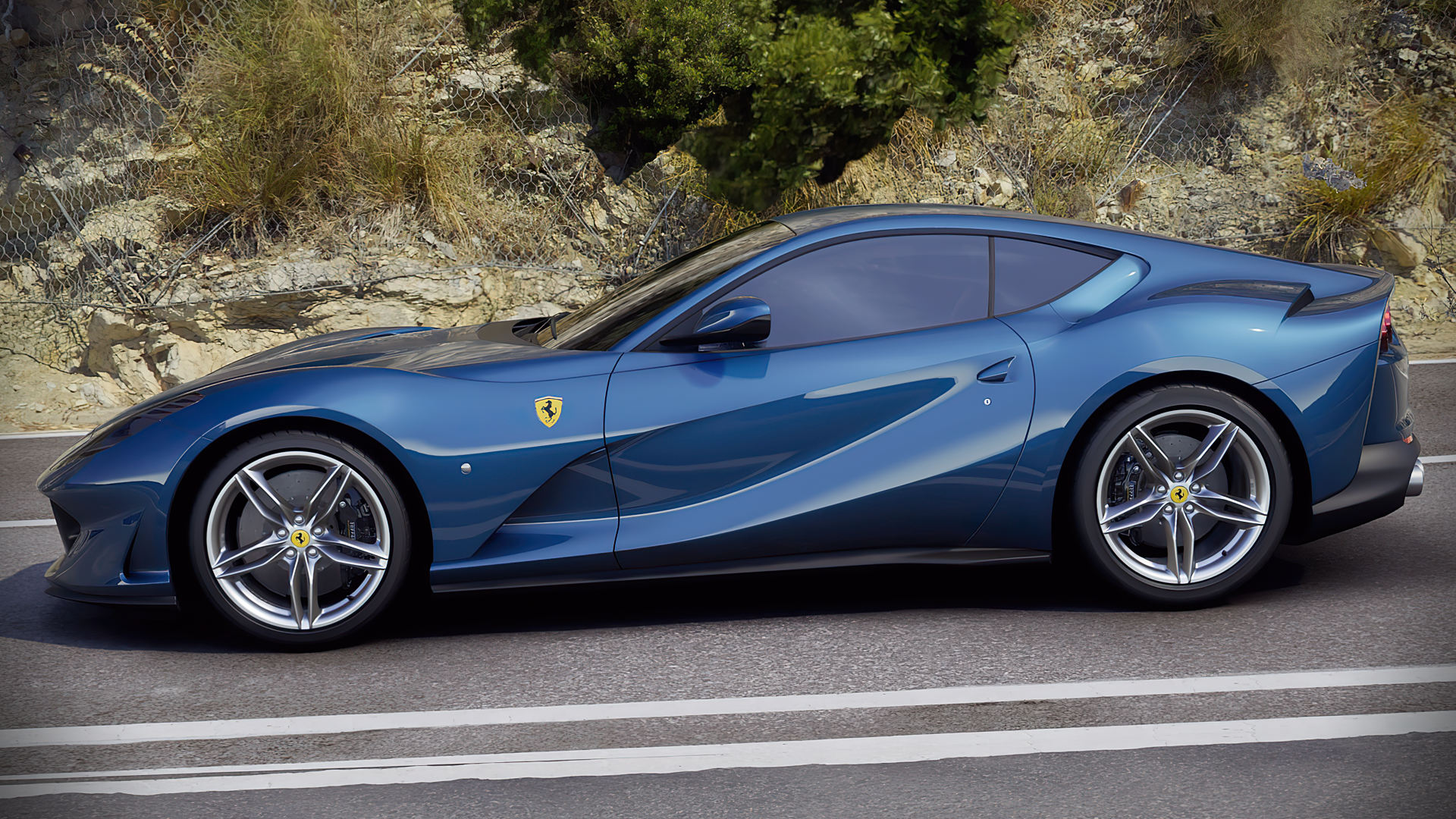 Ferrari 812 Superfast Wallpaper Blue