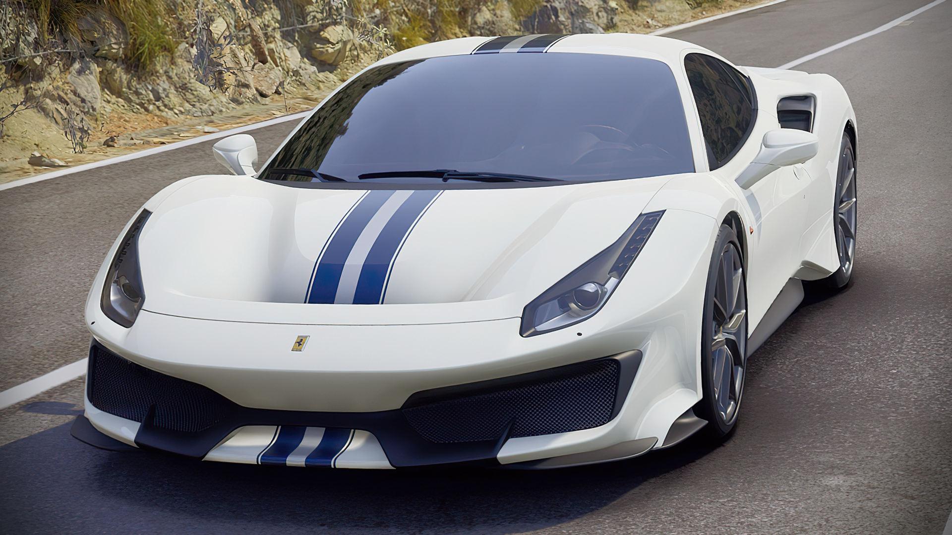 2019 Ferrari 488 Pista White Car Images