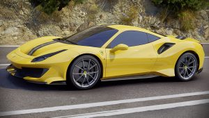 Ferrari 488 Pista Car Yellow Images