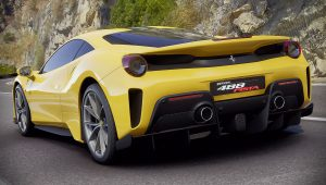 2019 Ferrari 488 Pista Yellow Car