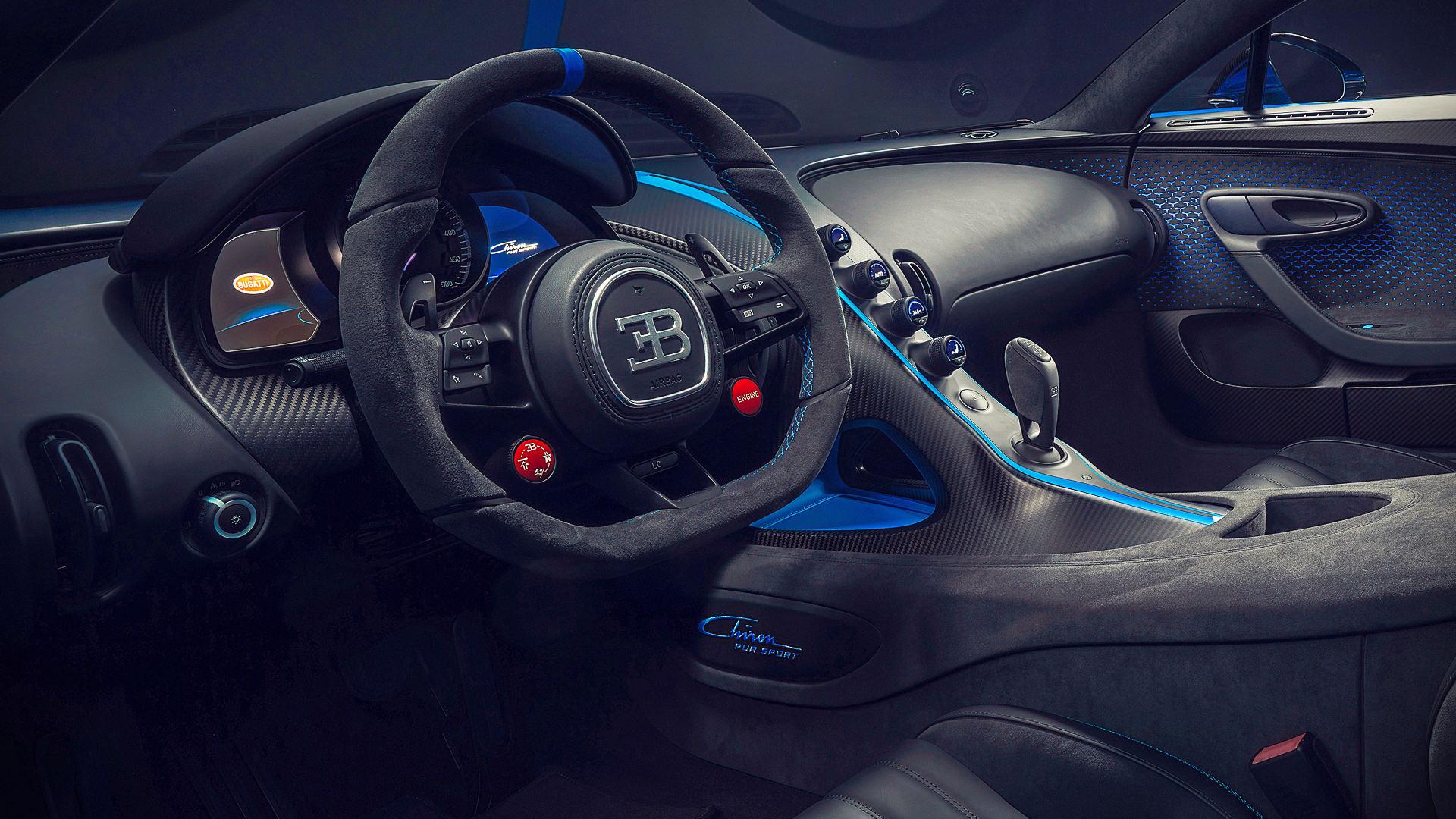 2020 Bugatti Chiron Pur Sport Interior Wallpaper