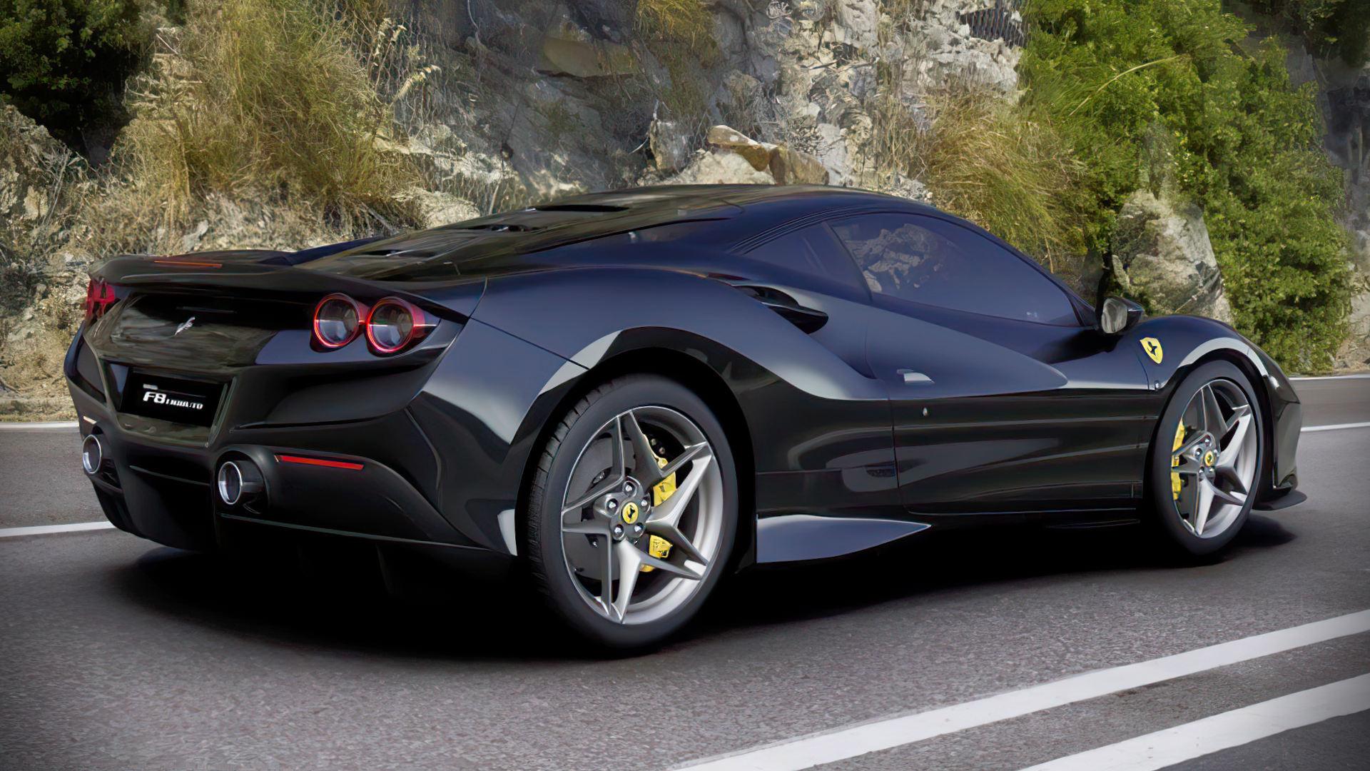 Ferrari F8 Tributo 2020 Black