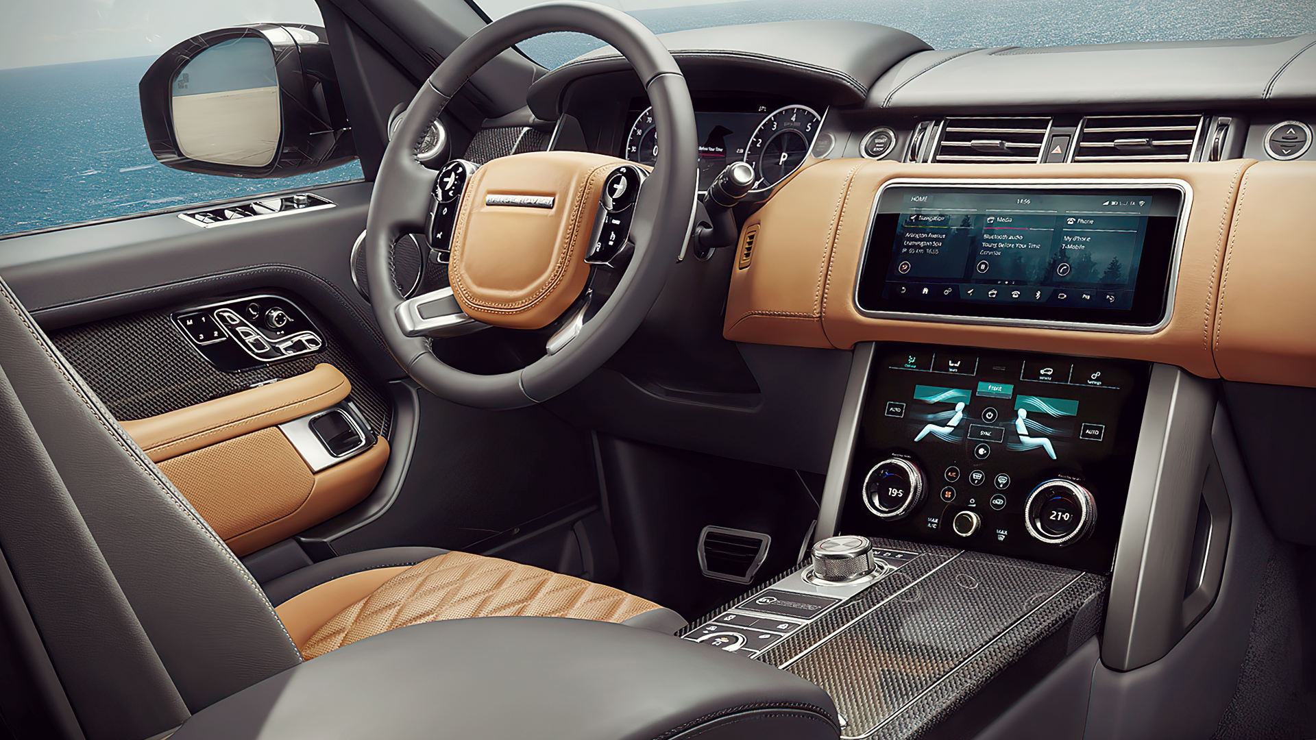 2020 Range Rover Velar Red Interior Inside