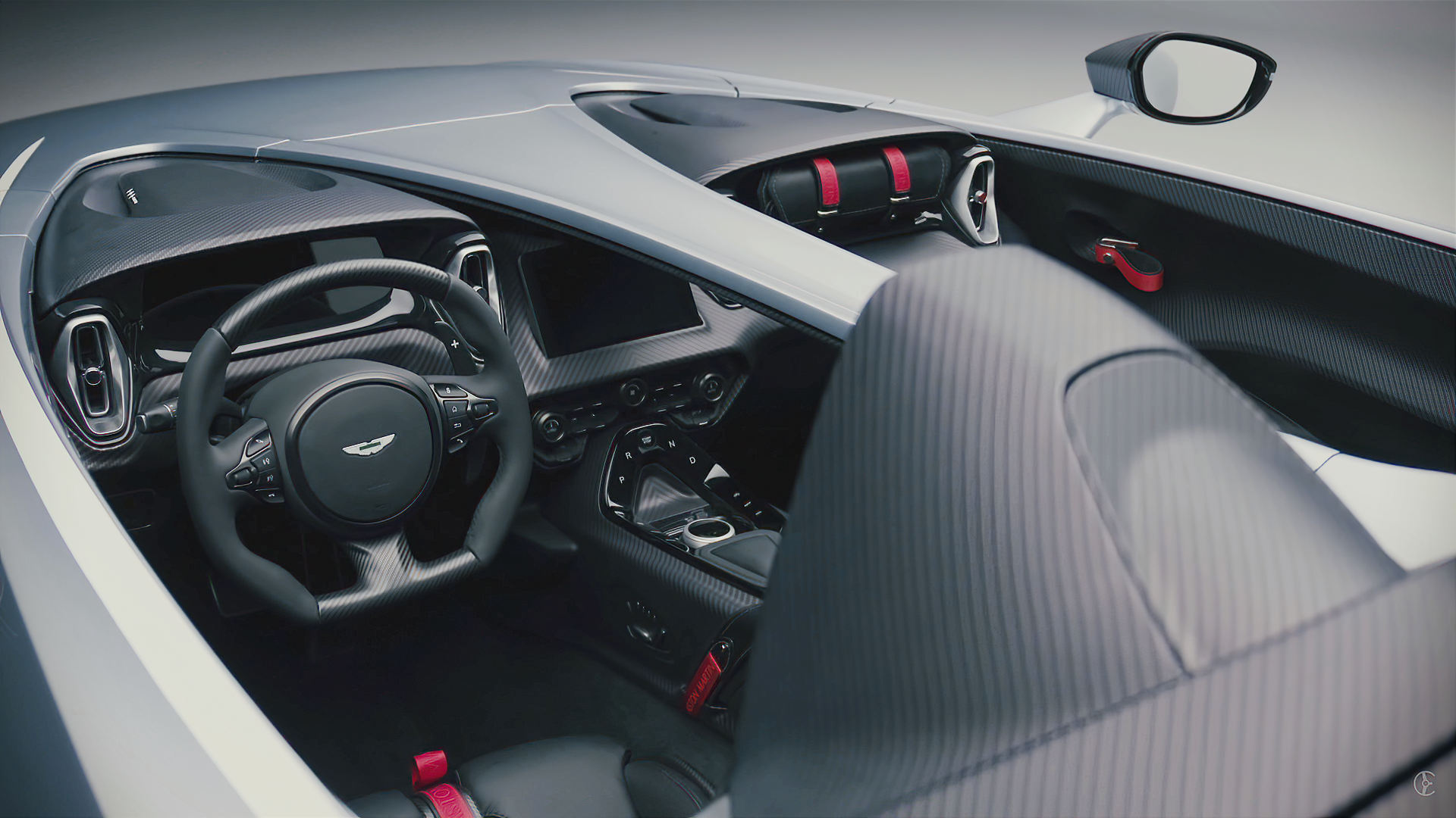 Aston Martin V12 Speedster 2021 Interior Wallpaper