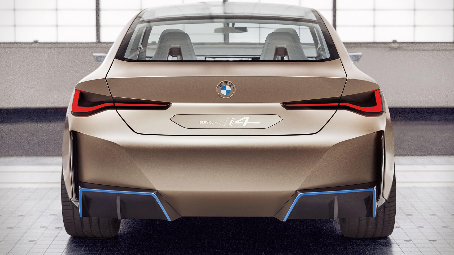 BMW Concept i4 2021 Back Wallpaper