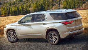2021 Chevrolet Traverse White Wallpaper