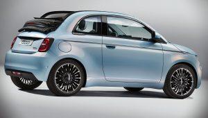 2021 Fiat 500 la Prima Side Wallpaper