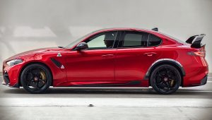 2021 Alfa Romeo Giulia GTA Side Wallpaper Hd