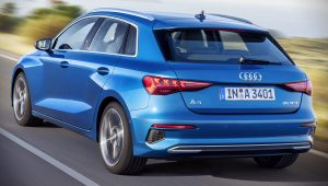 Audi A3 Sportback 2021 Back Wallpaper