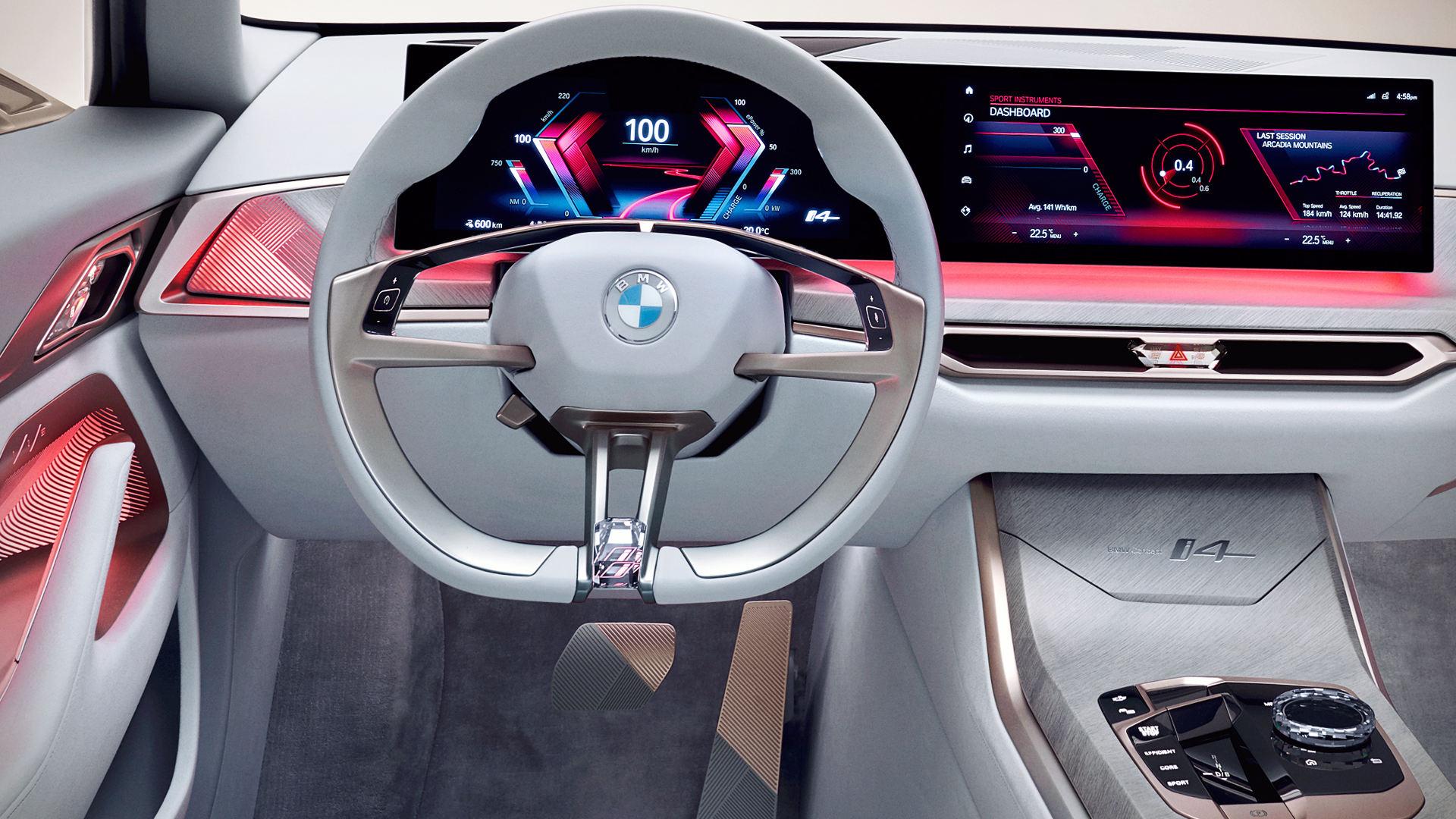 BMW Concept i4 2021 Interior Wallpaper