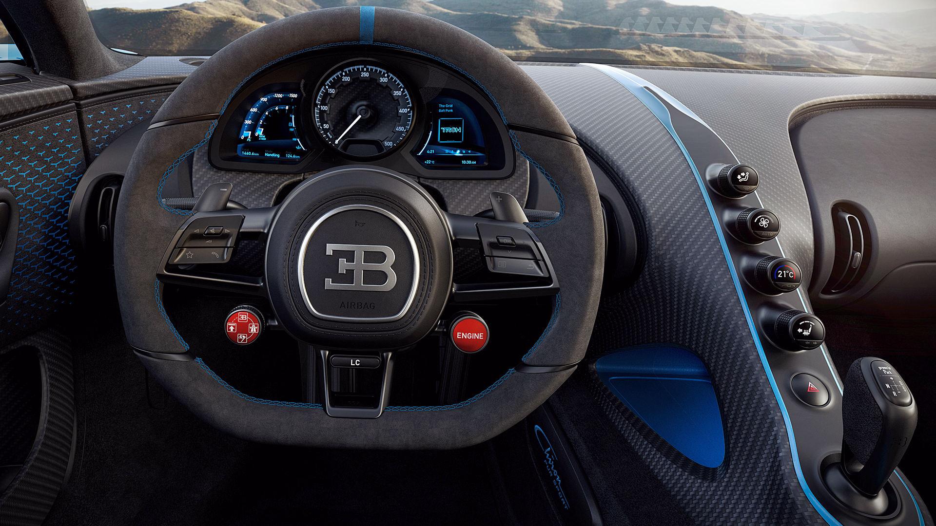Bugatti Chiron Pur Sport 2020 Interior Wallpaper