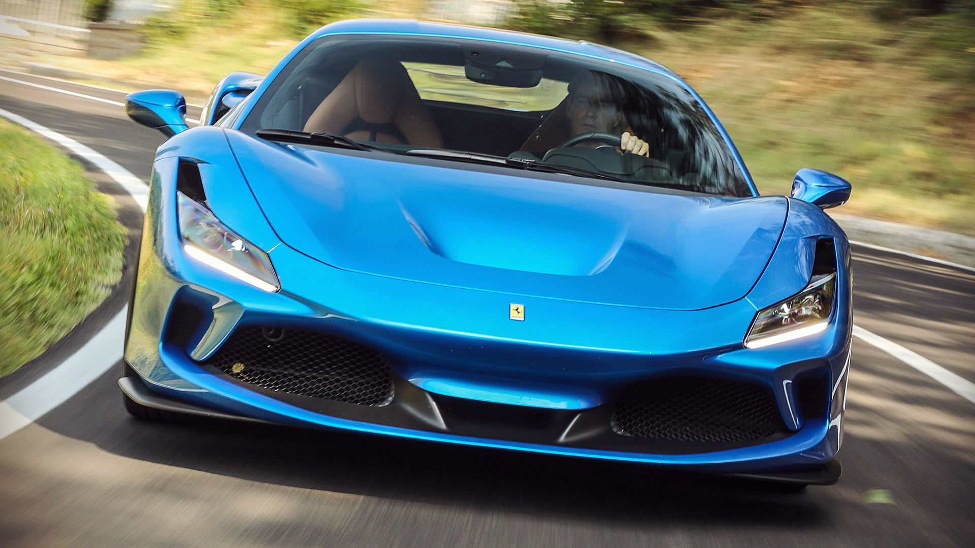 Ferrari F8 Tributo 2020 Blue Wallpaper
