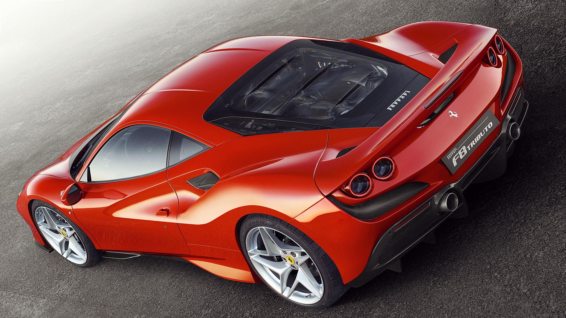 2020 Ferrari F8 Tributo Red Wallpaper Images