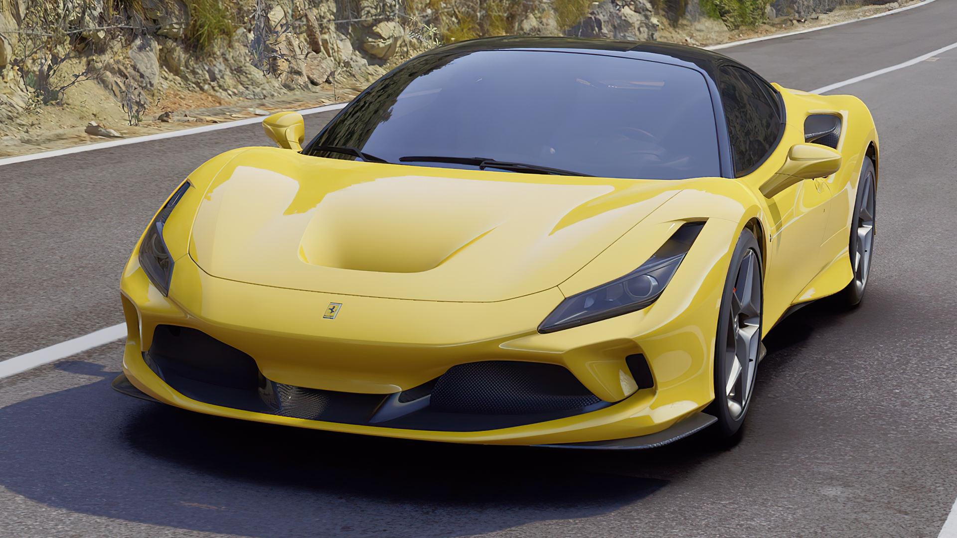 2020 Ferrari F8 Tributo Yellow Colors