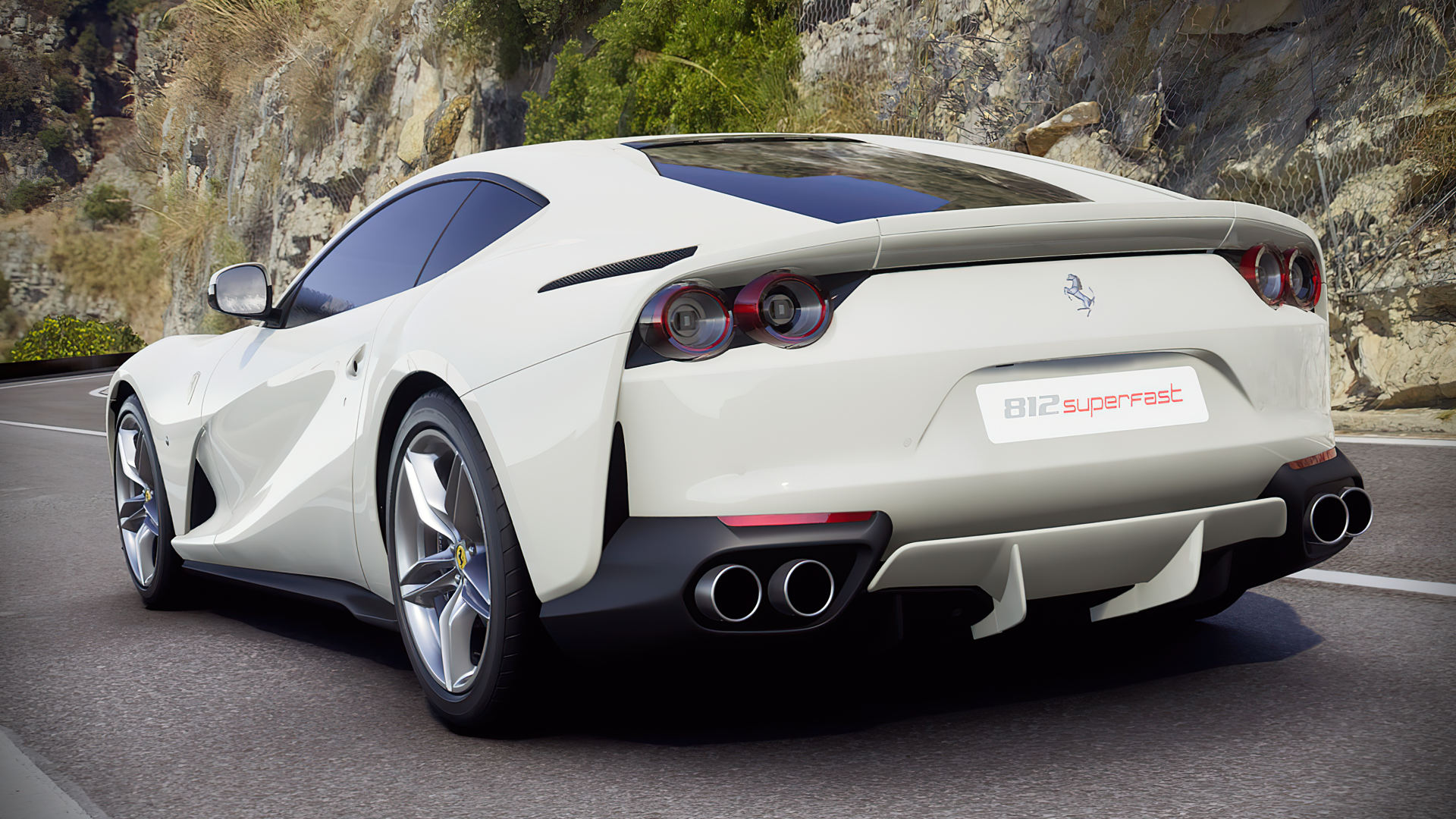 Ferrari 812 Superfast White Wallpaper