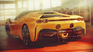 2020 Ferrari SF90 Stradale Yellow Wallpaper