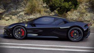 Ferrari SF90 Stradale Black Wallpaper