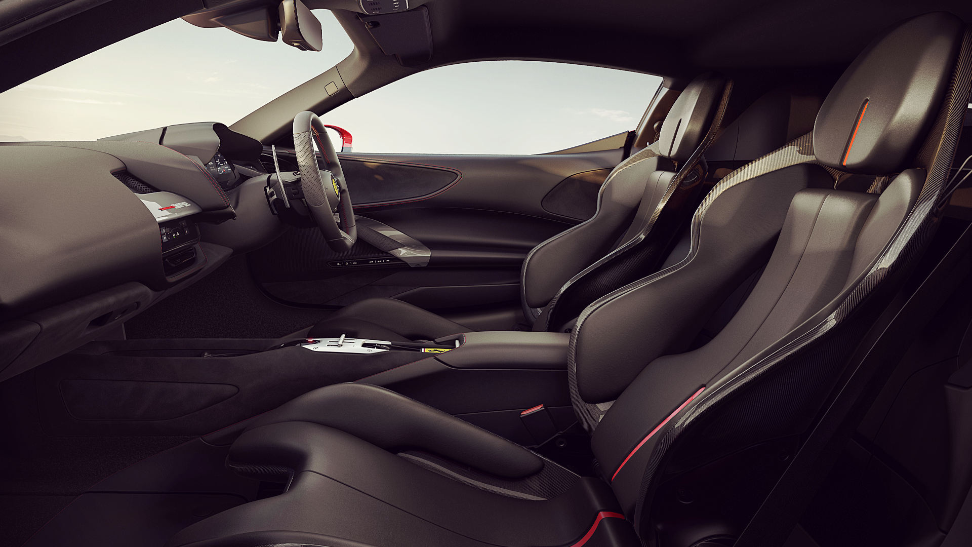 2020 Ferrari Sf90 Stradale Interior Wallpaper