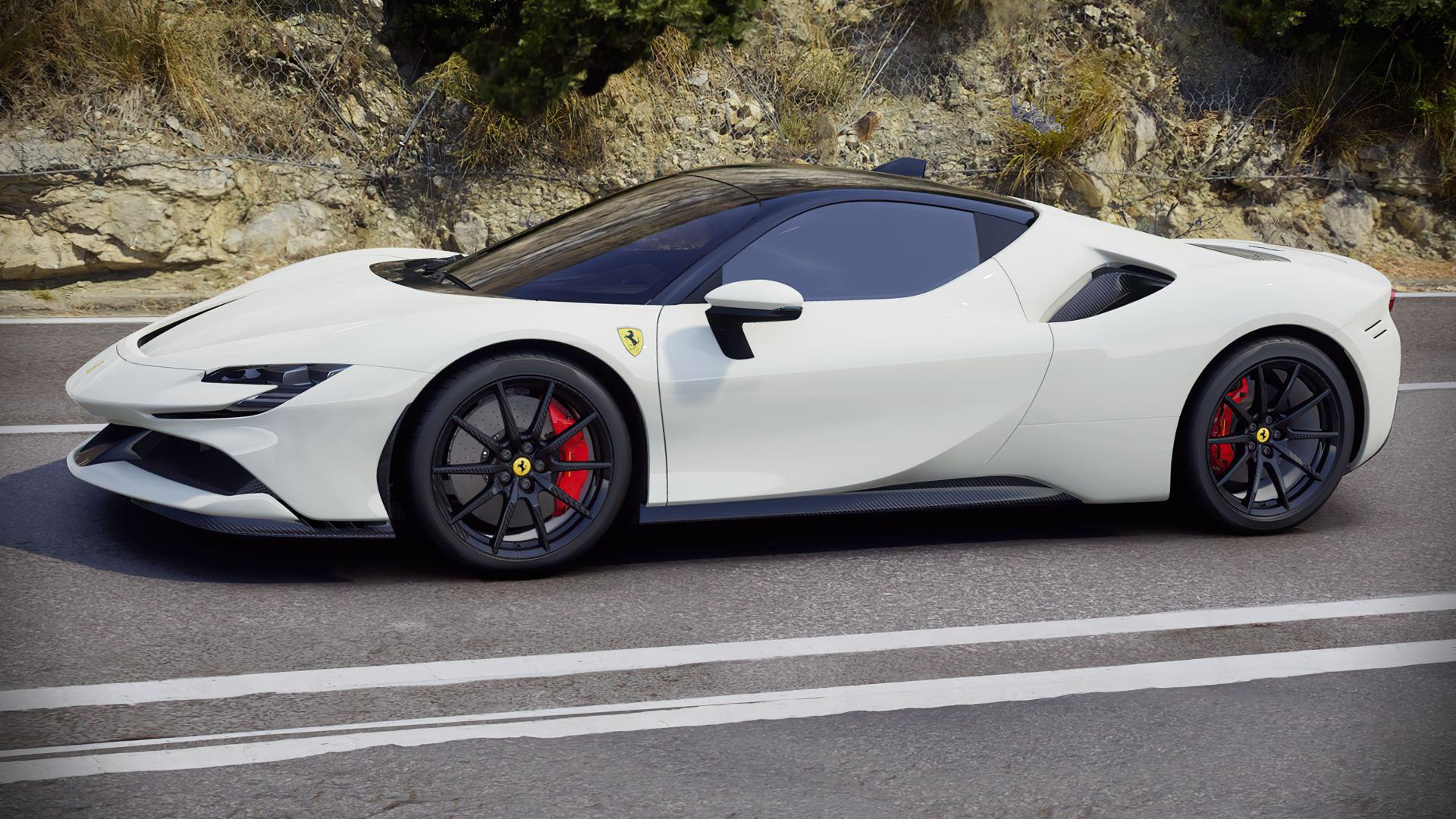 2020 Ferrari Sf90 Stradale White