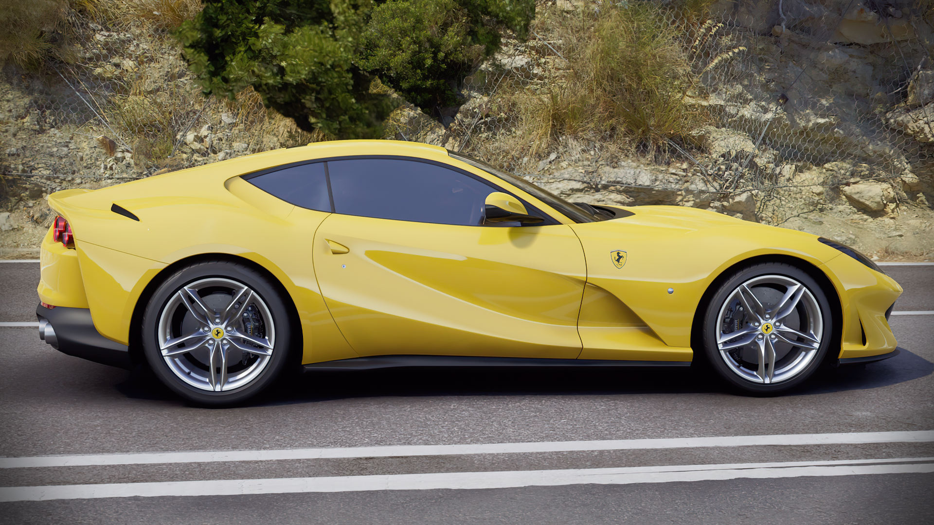 Ferrari Yellow Sports Car Wallpaper