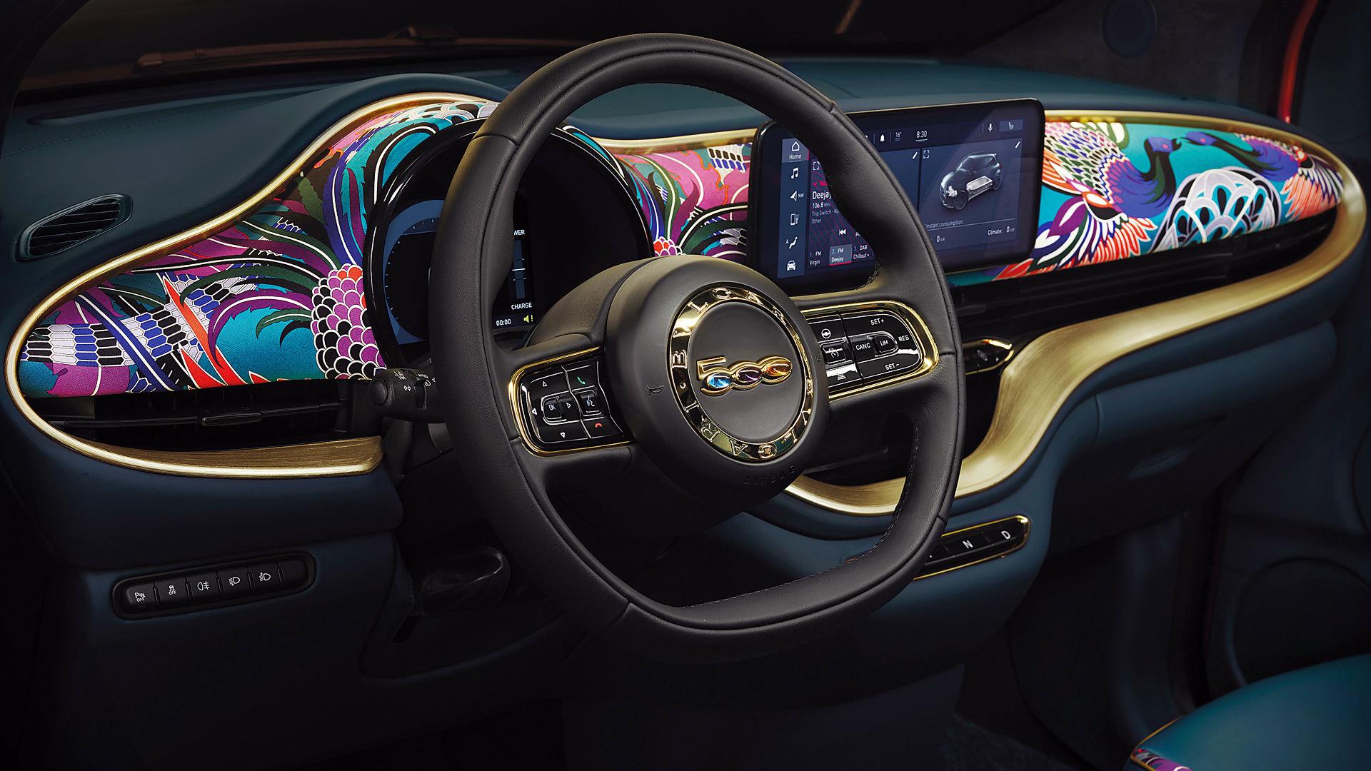 Fiat 500 Mai Troppo 2021 Interior Wallpaper