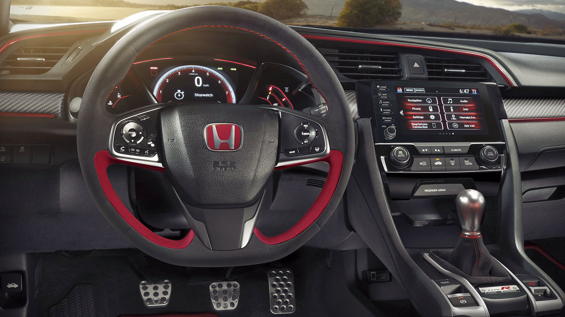 2020 Honda Civic Type R Interior Hatchback