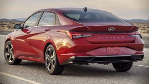 Hyundai Elantra 2021 Back Wallpaper