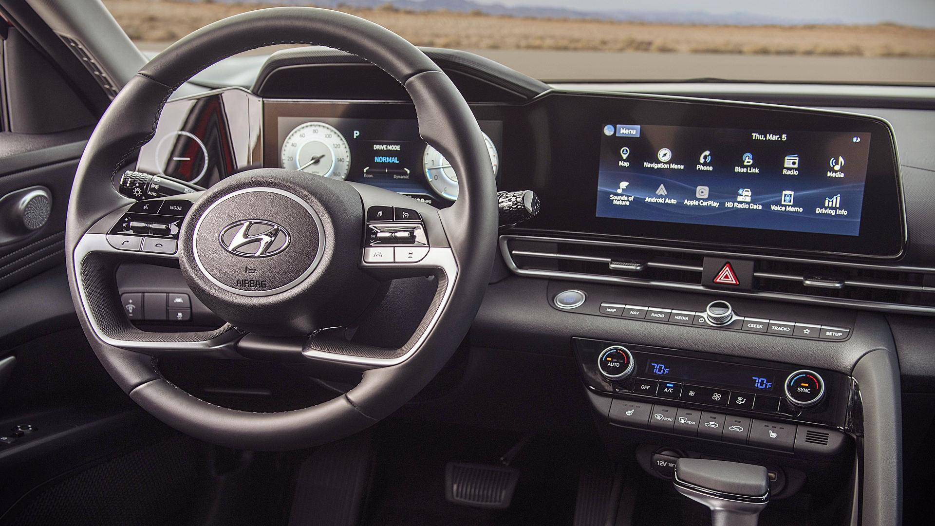 Hyundai Elantra 2021 Interior