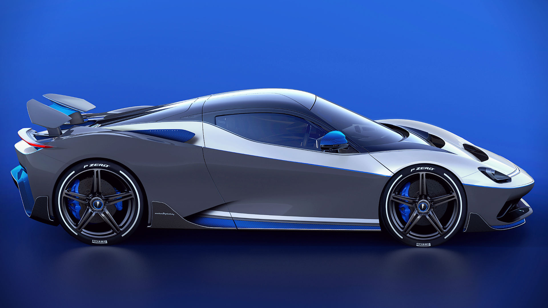2021 Pininfarina Battista Anniversario Side Wallpaper