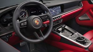 Porsche 911 Turbo S Cabriolet 2021 Interior Wallpaper